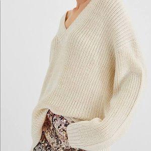 Stradivarius V Neck Knitted Sweater